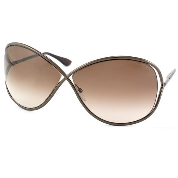 27f80c98022 Shop Tom Ford  Miranda 36F  Shiny Bronze Metal Sunglasses - Free ...