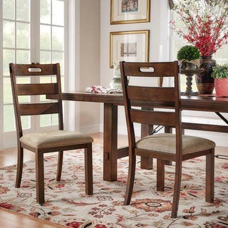 Swindon Rustic Oak Classic Dining Chair Set Of 2 By INSPIRE Q