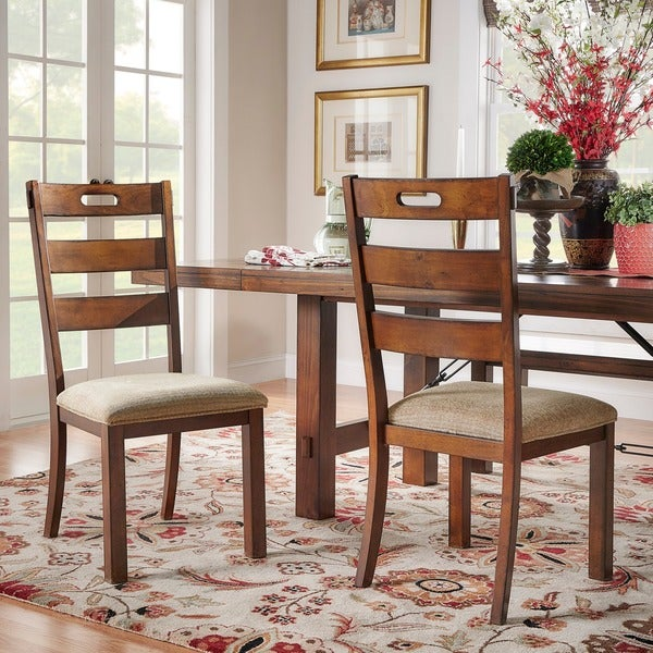 Set Of 2 Dining Chairs: Swindon Rustic Oak Classic Dining Chair (Set Of 2) By