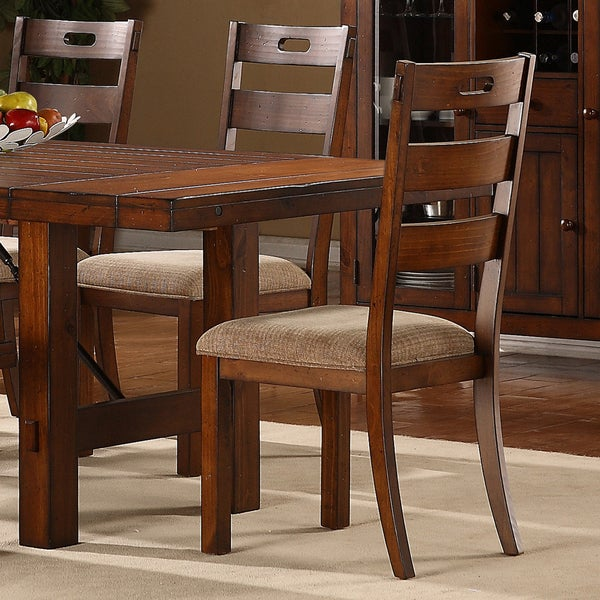 Swindon Rustic Oak Classic Dining Chair by TRIBECCA HOME (Set of 2)