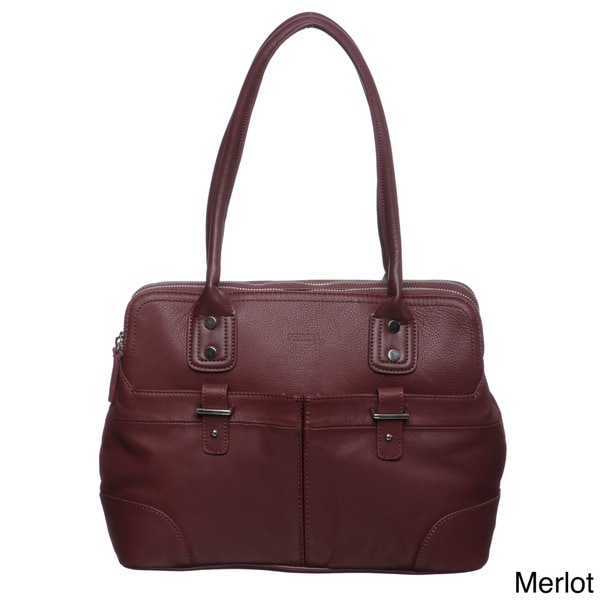 Perlina Taylor Leather Satchel Bag