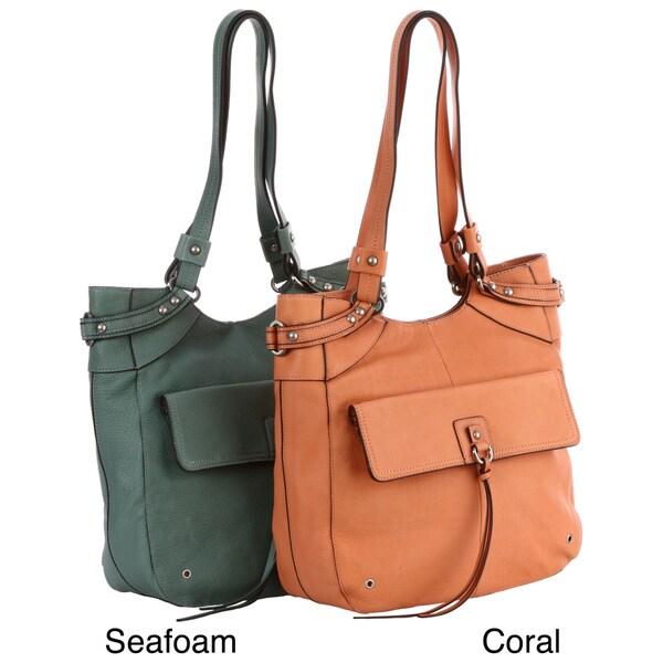 Perlina Dina Leather Tote Bag