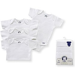 Gerber Organic One-pieces in White (Pack of 4)