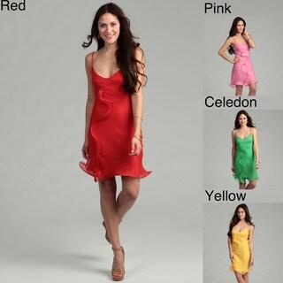 Issue New York Women's Silk Ruffle Dress