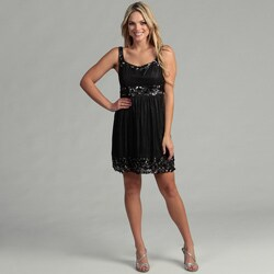 Issue New York Women's Black Beaded Cocktail Dress