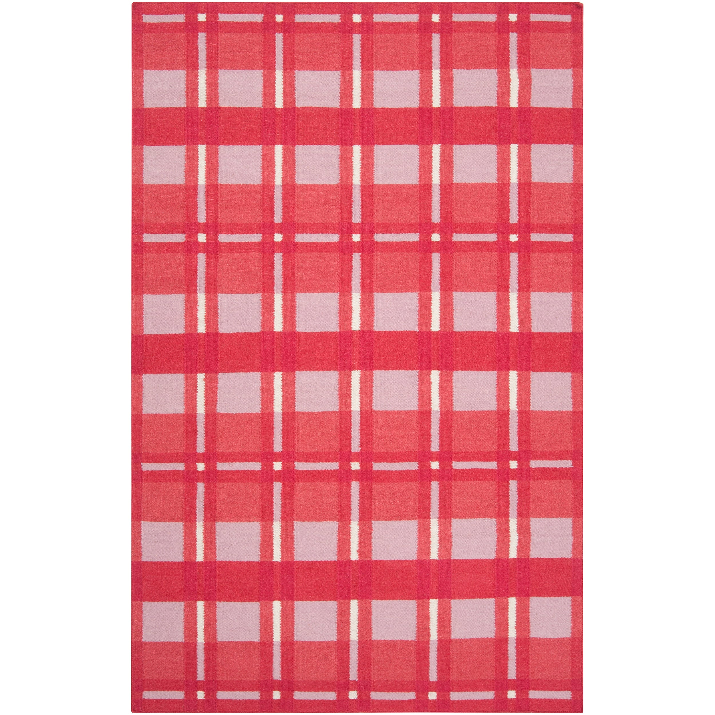 SURYA Hand-woven Pink Hapac Wool Rug (8' x 11'), Size 8' ...