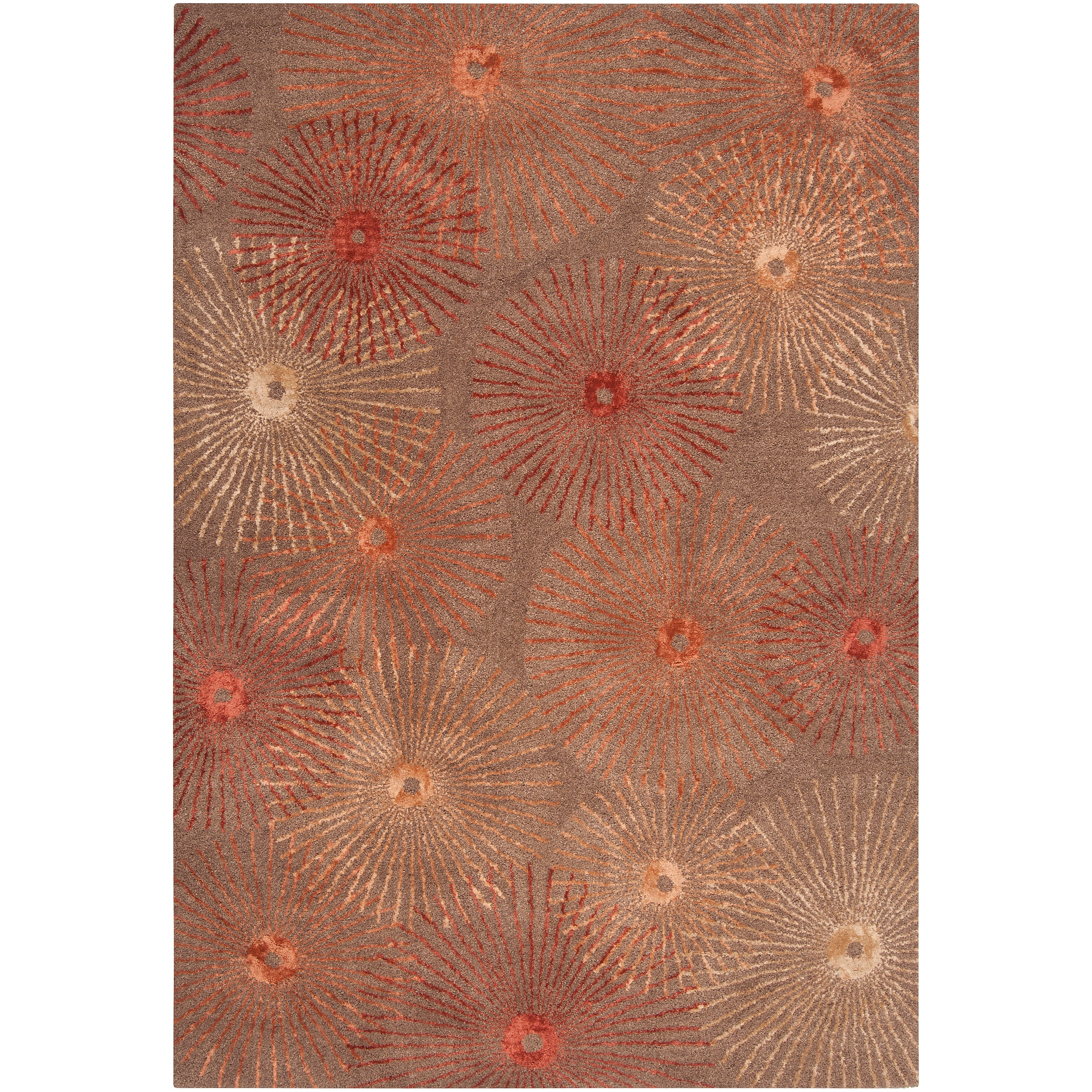 Hand-tufted Brown Finesse New Zealand Wool/ Viscose Rug (3'3 x 5'3)