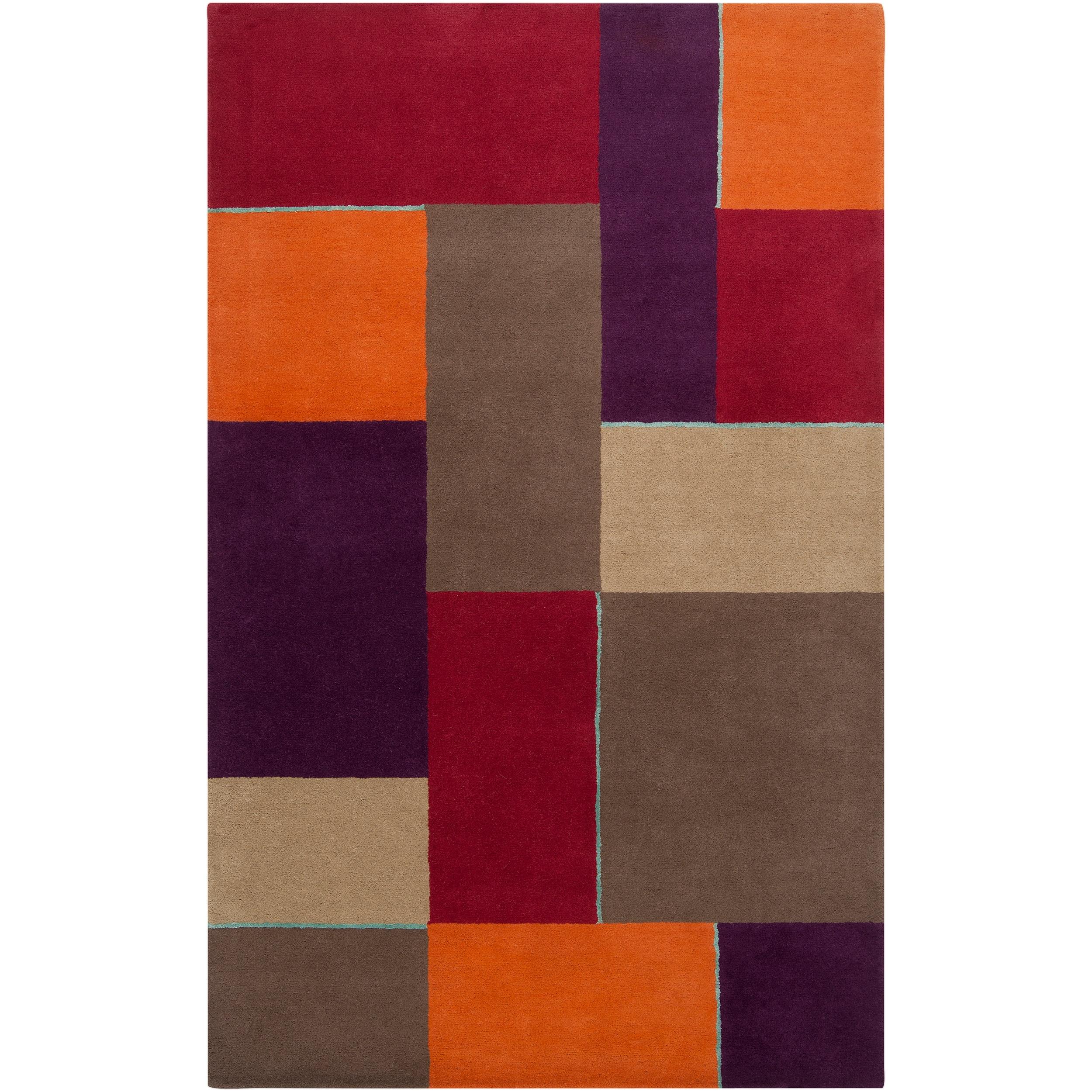 Hand-tufted Gray Diego Martin Geometric Pattern Wool Area Rug (9' x 12') - 9' x 12'