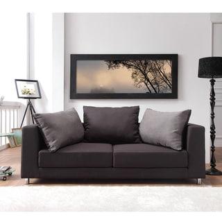 Furniture of America Breyani Two Tone Contemporary Sofa Bed