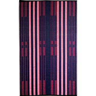 b.b.begonia Brick Lane Reversible Design Blue and Red Outdoor Area Rug - 6' x 9'