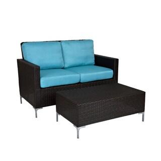 Handy Living Napa Springs Ocean Blue Indoor/ Outdoor Resin Set
