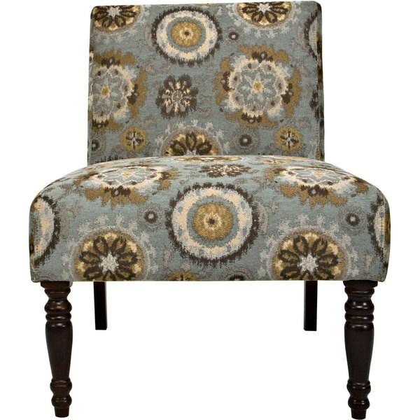 Handy Living Bradstreet Vintage Tapestry Blue Chair