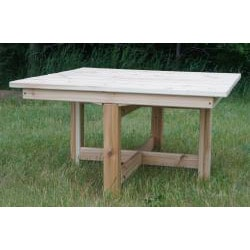 Phat Tommy Western Red Cedar Folding Outdoor Patio Table - Thumbnail 1