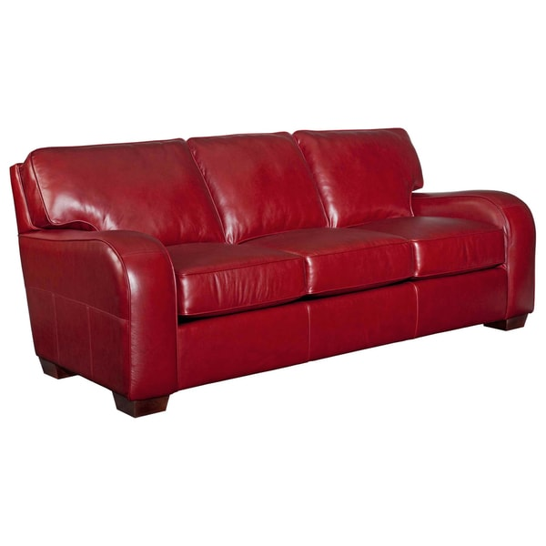 Broyhill Melanie Red Leather Sofa - Free Shipping Today