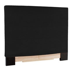 Slip-covered King-size Black Faux Leather Headboard