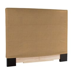 Slip-covered King-size Bronze Faux Leather Headboard