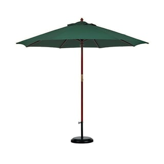 Lauren & Company Hunter Green Olefin Dark Hard Wood 11-foot Market Umbrella With Stand