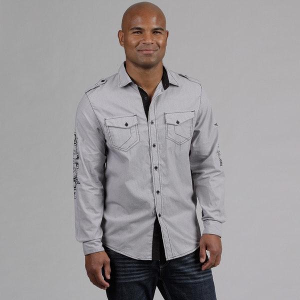 Modern Culture Men's Contrast Stitching Woven Shirt FINAL SALE