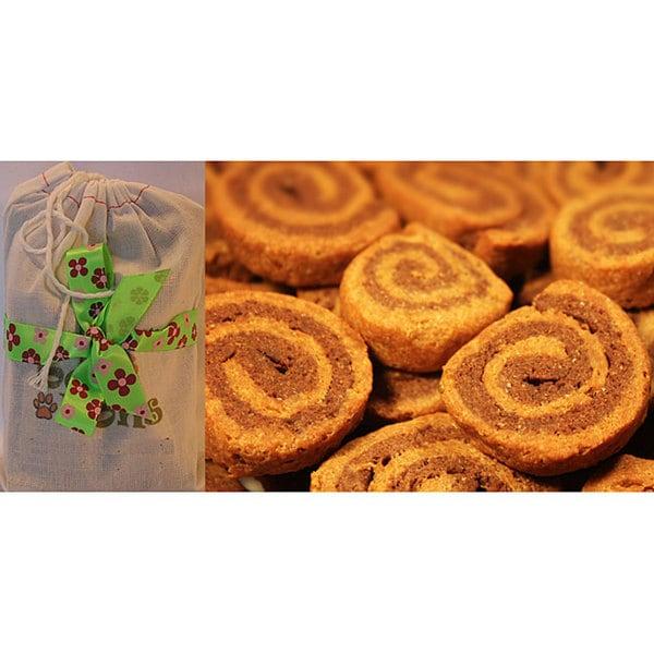 Bone Bons Organic Pinwheel Cookies Dog Treats