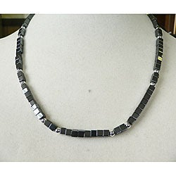 Joshua' Hematite Men's Necklace