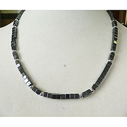 Joshua' Hematite Men's Necklace