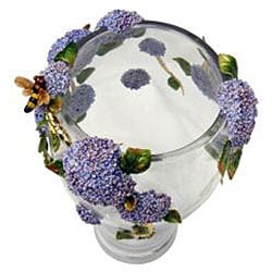 Cristiani Limited Edition Crystal Vase with Pewter Flowers - Thumbnail 2