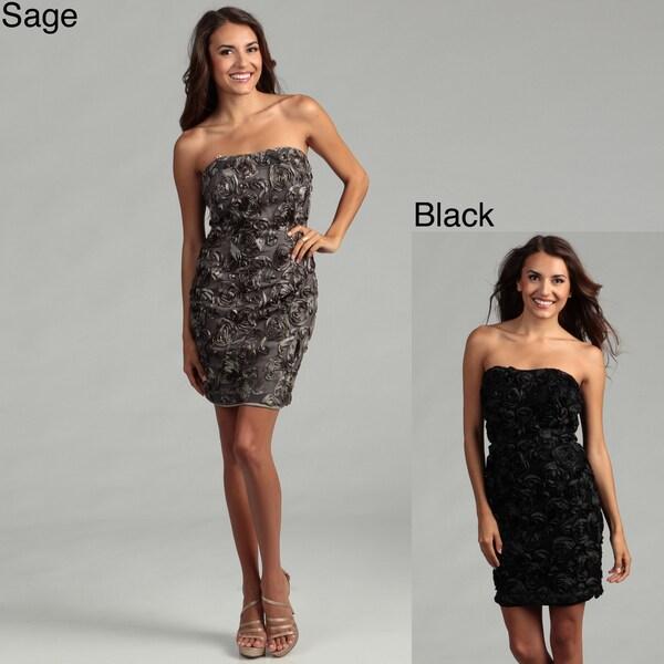 Issue New York Women's Strapless Rosette Dress