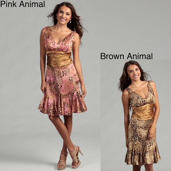 Issue New York Women's Animal Print Cinch Waist Dress