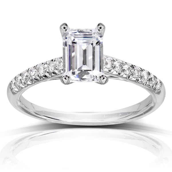 Annello by Kobelli 14k White Gold 1 1/6ct TDW Diamond Engagement Ring (H-I, SI1-SI2)