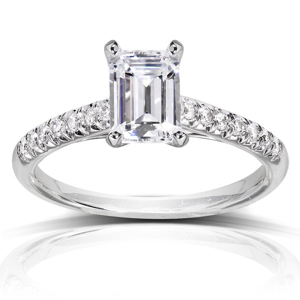 Annello 14k White Gold 1 1/6ct TDW Diamond Engagement Ring (H-I, SI1-SI2)