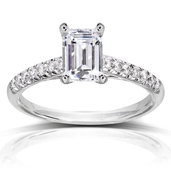 Annello by Kobelli 14k White Gold 1 1/6ct TDW Diamond Engagement Ring (H-I, SI1-SI2)