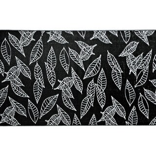 b.b.begonia Arctic Reversible Design Black and White Outdoor Area Rug (6' x 9')