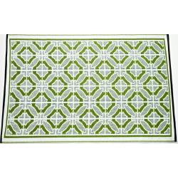 b.b.begonia Bali Reversible Design Green and White Outdoor Area Rug (6' x 9')