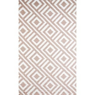 b.b.begonia Malibu Contemporary Reversible Design Beige and White Outdoor Area Rug (5' x 8')