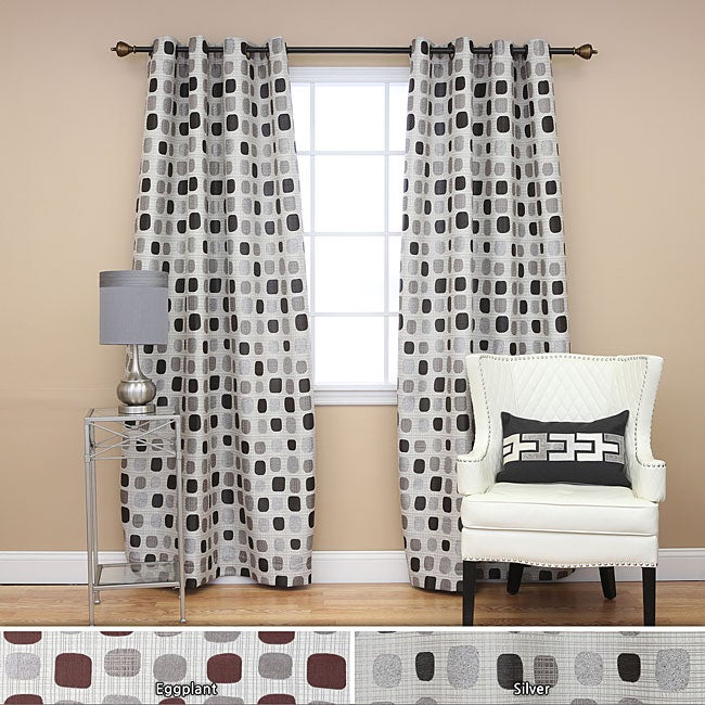 Aurora Home Metallic Dot Grommet 84-inch Curtain Pair - 52 x 84