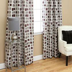 Aurora Home Metallic Dot Grommet 84-inch Curtain Pair - 52 x 84 - Thumbnail 1
