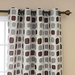 Aurora Home Metallic Dot Grommet 84-inch Curtain Pair - 52 x 84 - Thumbnail 2
