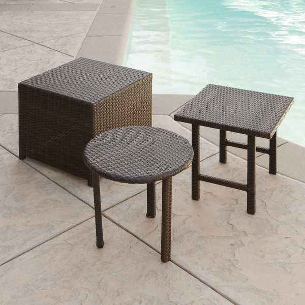Palmilla Wicker Table (Set Of 3) By Christopher Knight Home by Christopher Knight Home