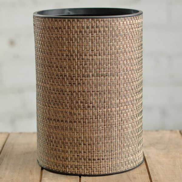 1530 LaMont Home Roxie Round Multi Browns Wastebasket