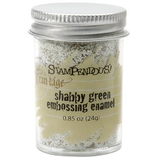 Stampendous Shabby Embossing Enamel-Green