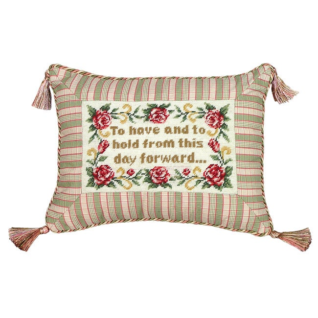 """To Have and to Hold...'' Petit Point Pillow"