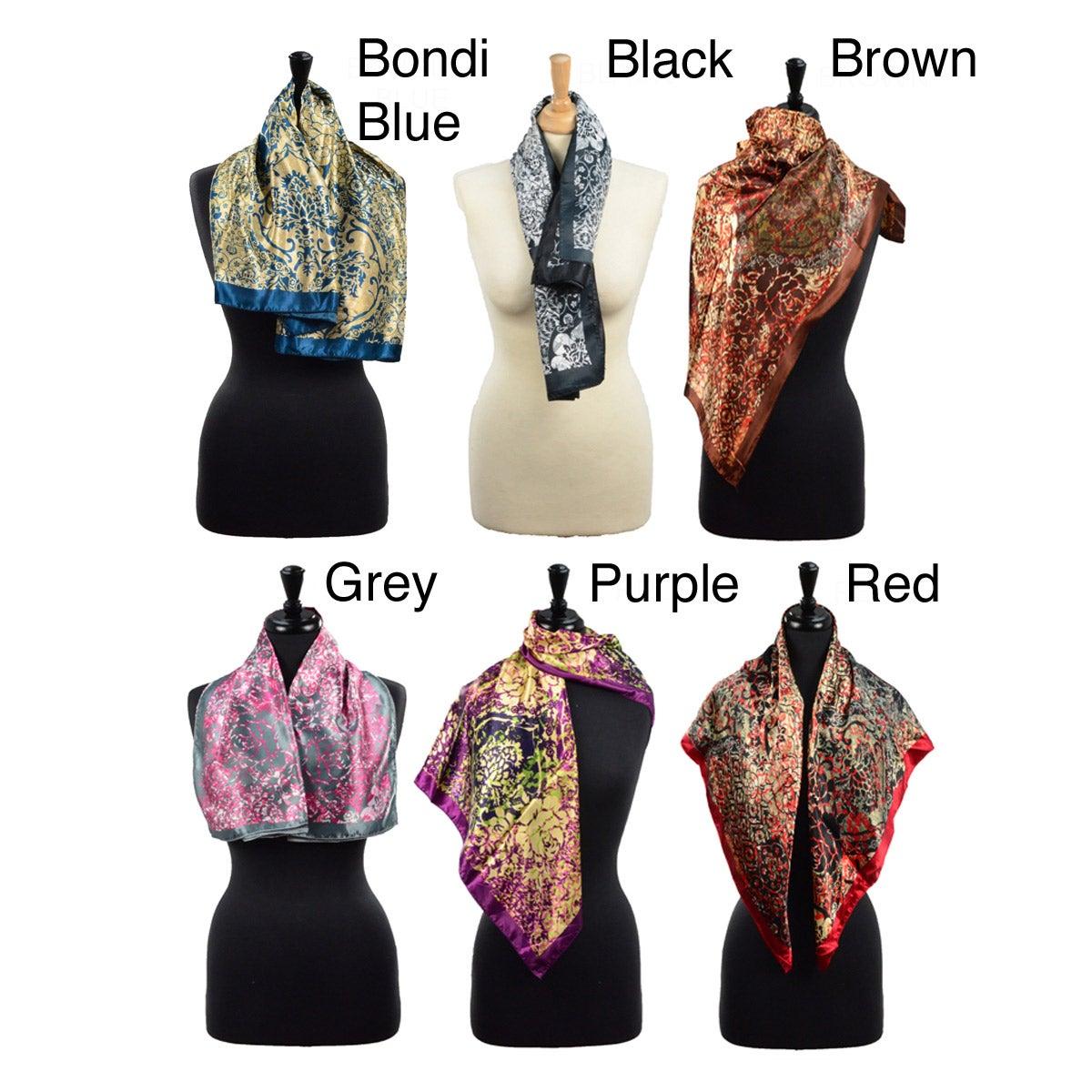 Reversible LA77 Women's Floral-Print Scarf