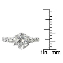 Journee Collection Steel Cubic Zirconia Engagement-style Ring