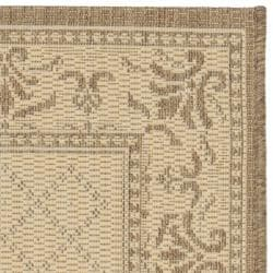 Safavieh Poolside Synthetic Natural/Brown Indoor/Outdoor Rug (2' x 3'7)