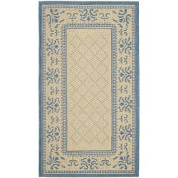 "Safavieh Royal Natural/ Blue Indoor/ Outdoor Rug (2' x 3'7"")"