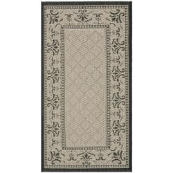 "Safavieh Poolside Sand/Black Synthetic Fiber Indoor/Outdoor Rug (2' x 3'7"")"