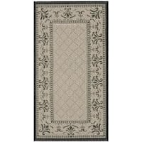 Safavieh Royal Sand/ Black Indoor/ Outdoor Rug - 2' x 3'7