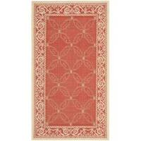 Safavieh Bay Red/ Natural Indoor/ Outdoor Rug - 2' x 3'7