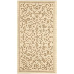 Safavieh Resorts Scrollwork Natural/ Brown Indoor/ Outdoor Rug (2' x 3'7)