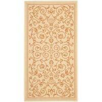 Safavieh Resorts Scrollwork Natural/ Terracotta Indoor/ Outdoor Rug - 2' x 3'7